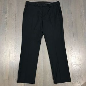 Mossimo Slim Fit Navy Blue Striped Dress Pants